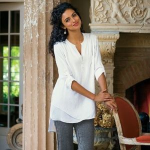 SOFT SURROUNDINGS ~ Large In the Study White Tunic